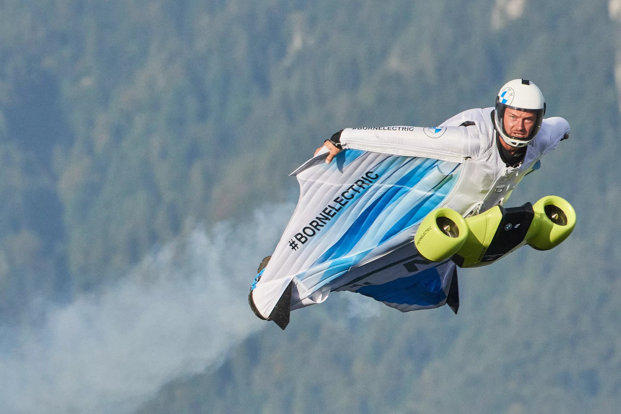 Austrian Stuntman Puts World's First Electric Wingsuit To Test
