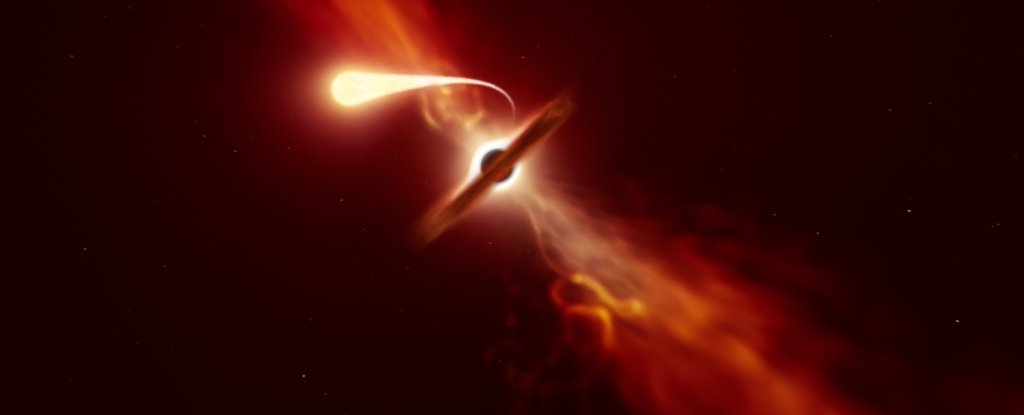 Astronomers Witness Star Getting Devoured By A Black Hole