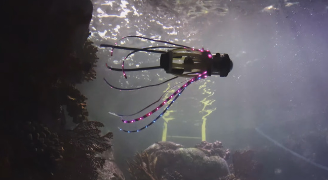 Glowing Squid Robot Can Explore The Ocean Without Harming Sea Creatures