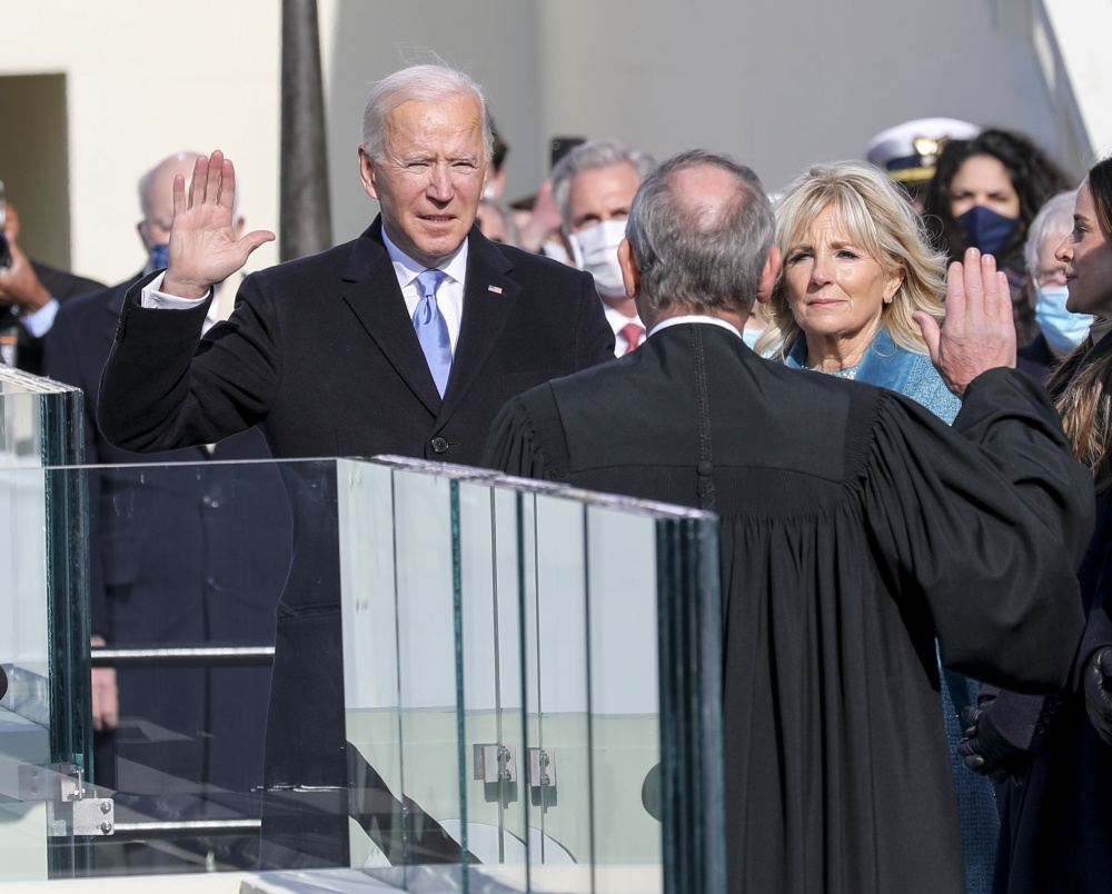 Joe Biden And Kamala Harris Sworn In As President And Vice President Of The United States Of America