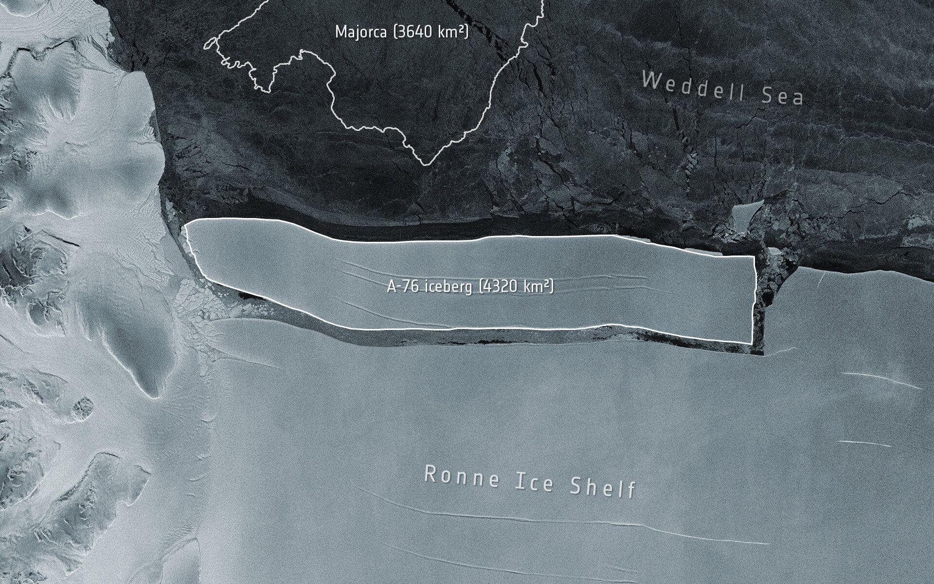 World's Largest Iceberg Breaks Off Antarctica's Ronne Ice Shelf