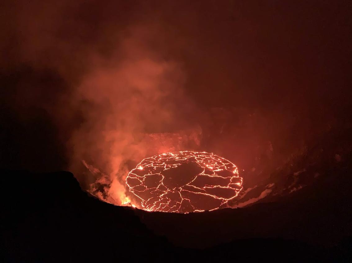 Hawaii's Kilauea Volcano Eruption Creates Spectacular Lava Lake