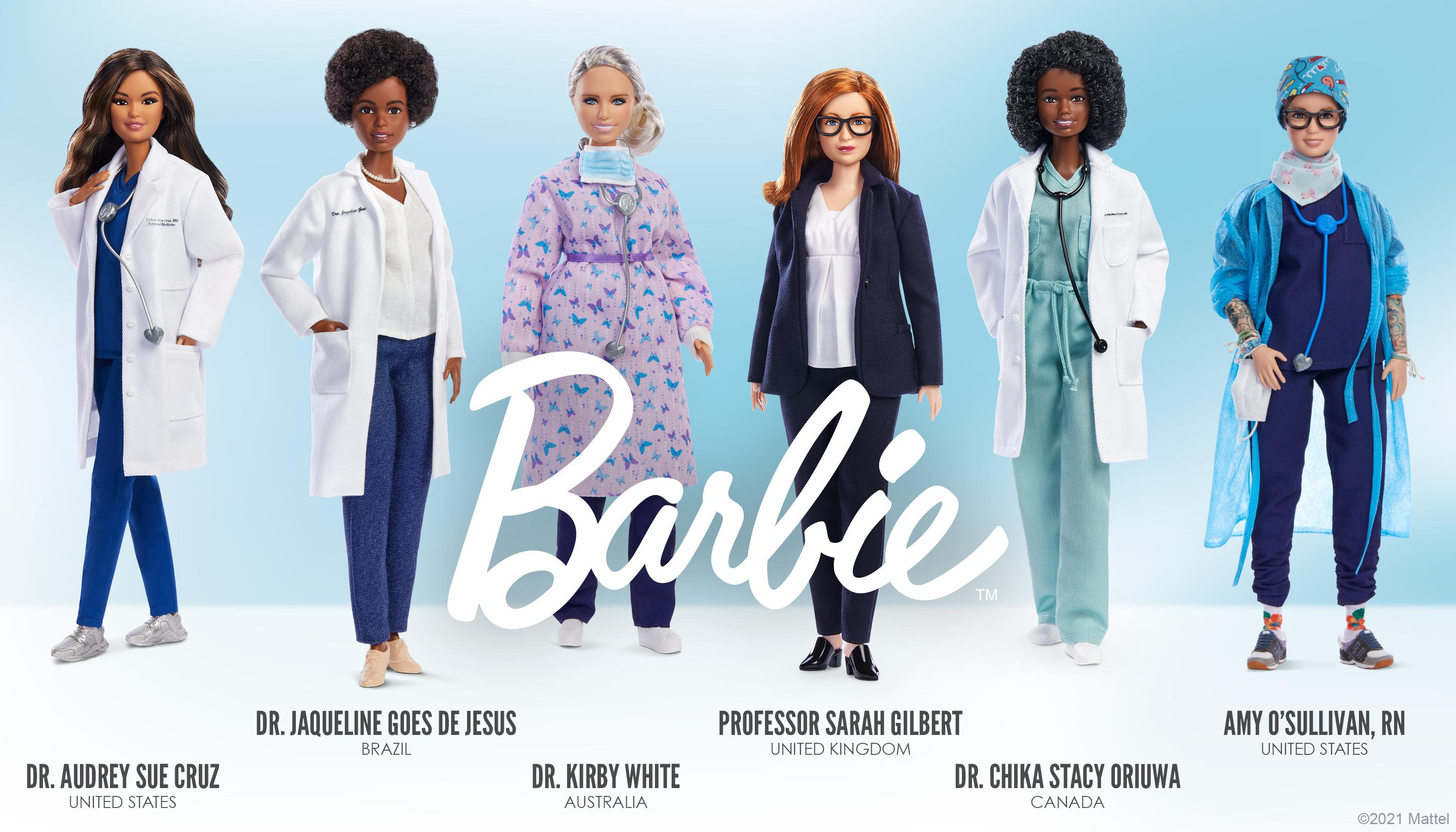 Mattel Honors Six Female Pandemic Heroes With Custom Barbie Dolls
