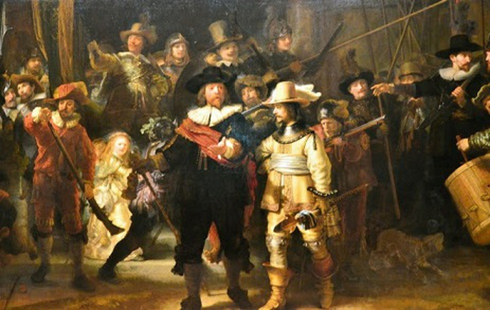 """Rembrandt's """"The Night Watch"""" Painting Restored To Its Original Form With The Help Of AI"""